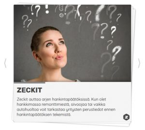 Esimerkki Zeckit Active esitteestä