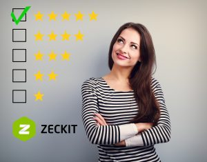 The best rating, evaluation. Business confident happy woman