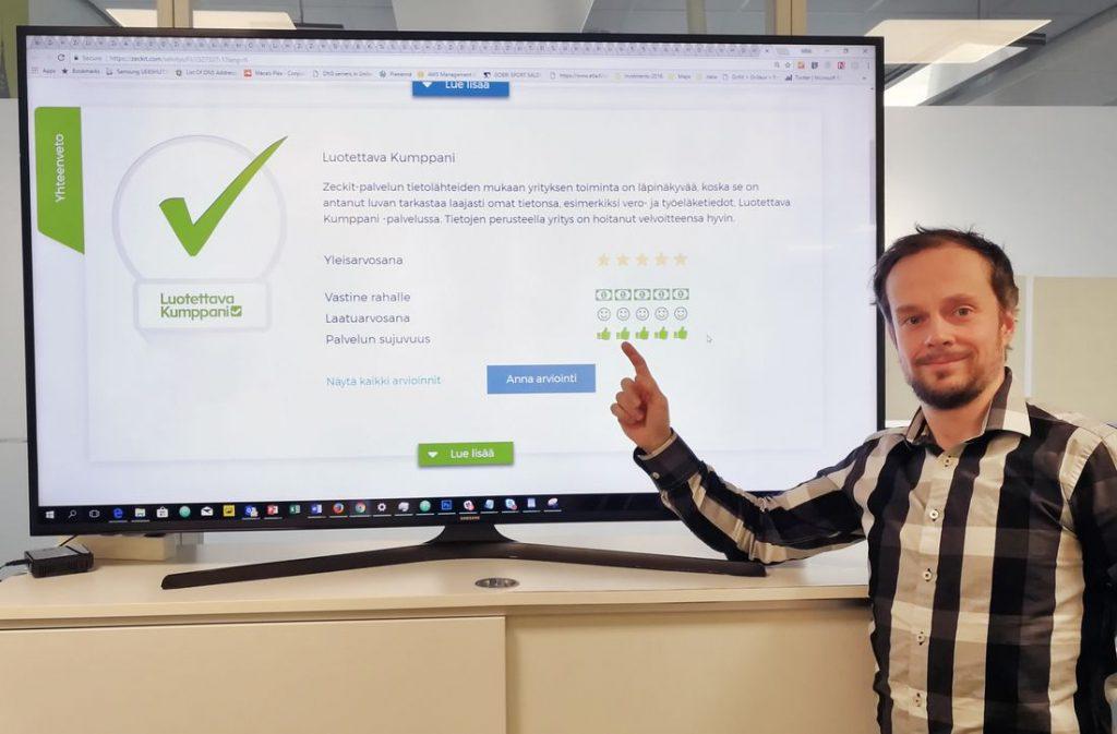 Suomen Tilaajavastuun varatoimitusjohtaja Mika Huhtamäki esittelee Zeckit-palvelua